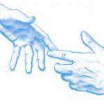 main-tendue-aide-bleu